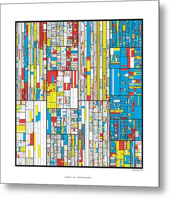 3628 Digits Of Pi Metal Print by Martin Krzywinski