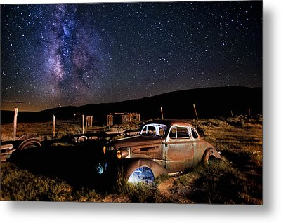 '37 Chevy And Milky Way Metal Print by Cat Connor