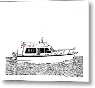 37 Ft Northwest Trawler Yacht Metal Print by Jack Pumphrey