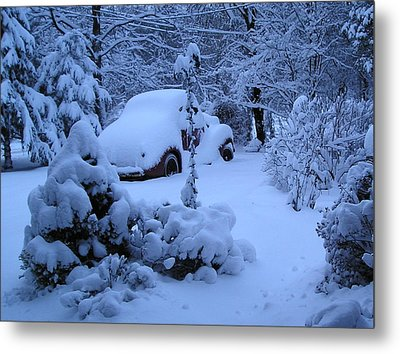 38 Chevy In Snow Metal Print