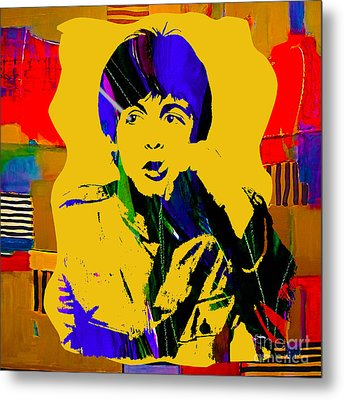 Paul Mccartney Collection Metal Print by Marvin Blaine