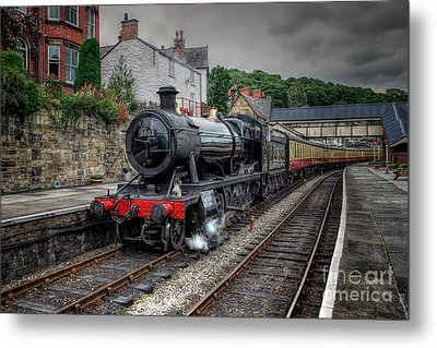 3802 At Llangollen Station Metal Print by Adrian Evans