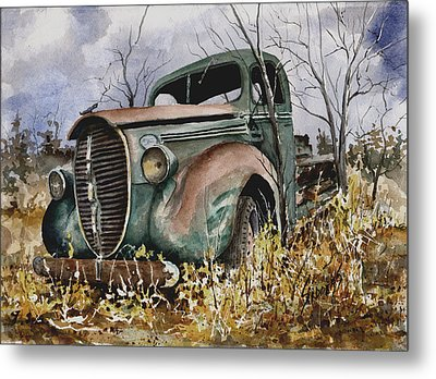 39 Ford Truck Metal Print by Sam Sidders