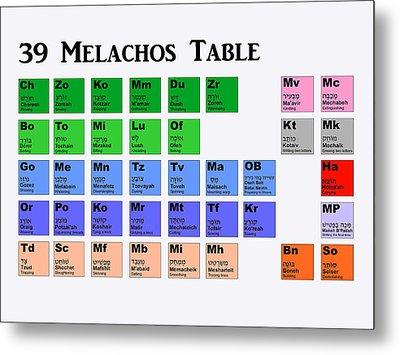 39 Melachos  Metal Print by Anshie Kagan