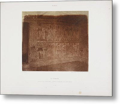 Photograph Of The Egyptian Landscape Metal Print by British Library