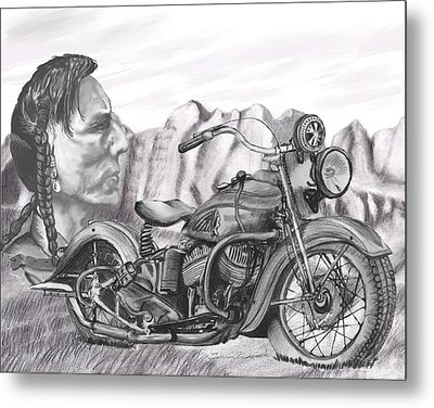 Metal Print featuring the drawing 39 Scout by Terry Frederick