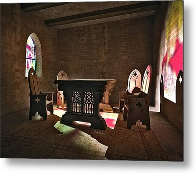3d Gothic Room Metal Print