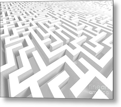 3d Maze - Version 2 Metal Print by Shazam Images