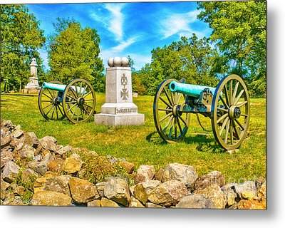 3rd Massachusetts Battery Gettysburg National Military Park Metal Print by Bob and Nadine Johnston