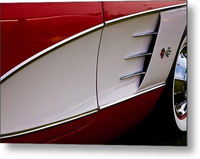 1959 Chevy Corvette Metal Print by David Patterson