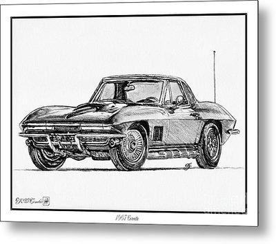 1967 Corvette Metal Print