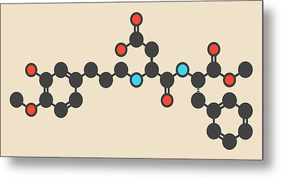 Advantame Sugar Substitute Molecule Metal Print