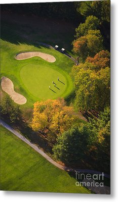 Aerial Image Of A Golf Course. Metal Print