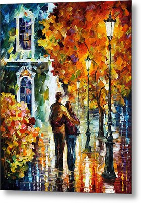 After The Date Metal Print by Leonid Afremov