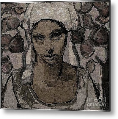 Alone In The Garden Metal Print by Pemaro