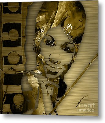 Aretha Franklin Collection Metal Print by Marvin Blaine