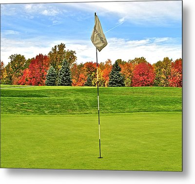 Autumn Golf Metal Print by Frozen in Time Fine Art Photography