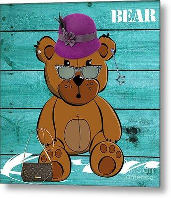 Baby Bear Collection Metal Print