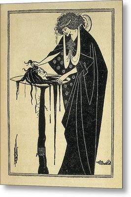 Beardsley, Aubrey Vincent 1872-1898 Metal Print by Everett