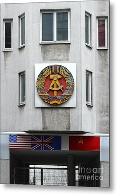 Berlin - Checkpoint Charlie Metal Print by Gregory Dyer