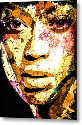 Metal Print featuring the digital art Beyonce by Svelby Art