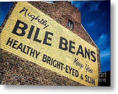 Bile Beans Advertising Metal Print by Bailey Cooper