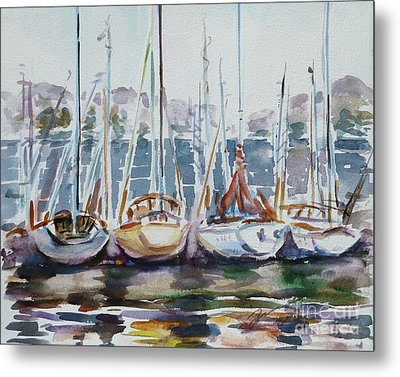 4 Boats Metal Print by Xueling Zou