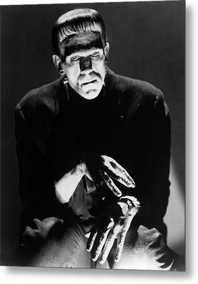 Boris Karloff In Frankenstein  Metal Print by Silver Screen