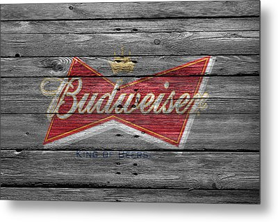 Budweiser Metal Print by Joe Hamilton