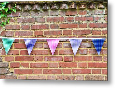 Bunting Metal Print by Tom Gowanlock