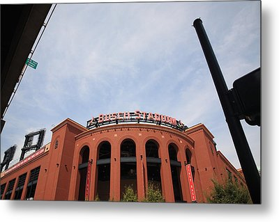 Busch Stadium - St. Louis Cardinals Metal Print by Frank Romeo