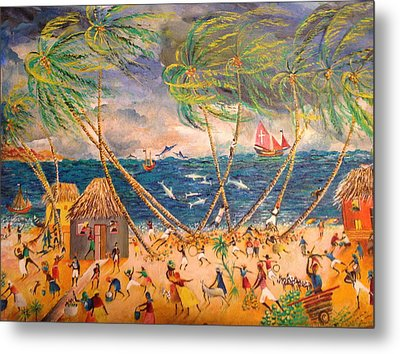 Caribbean Village Metal Print by Egidio Graziani