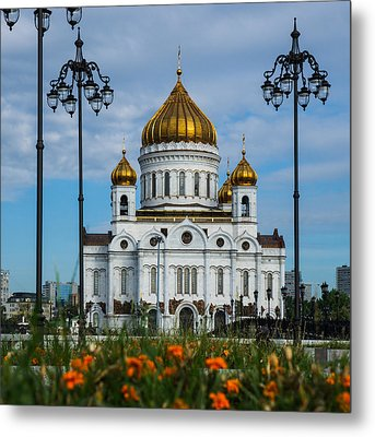Cathedral Of Christ The Savior Of Moscow - Russia - Featured 3 Metal Print by Alexander Senin