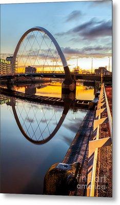 Clyde Arc Squinty Bridge Metal Print