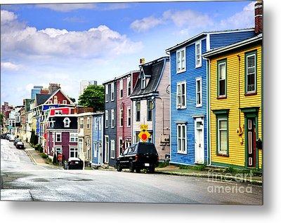 Colorful Houses In St. John's Metal Print by Elena Elisseeva