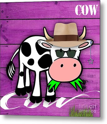 Cool Cow Collection Metal Print
