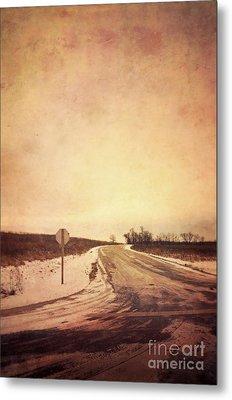 Country Road Metal Print by Jill Battaglia