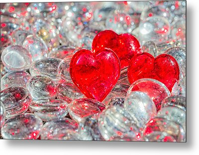 Crystal Heart Metal Print