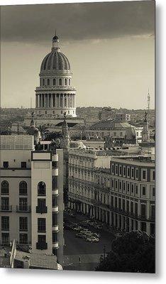 Cuba, Havana, Elevated City View Metal Print