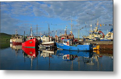 Dingle Boats Metal Print by Barbara Walsh