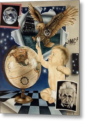 Discovery Of The New World Metal Print