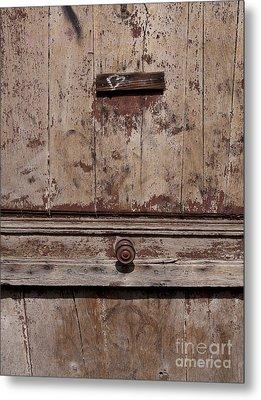 Door With Peeling Paint Metal Print