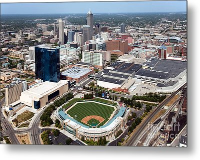 Downtown Indianpolis Indiana  Metal Print by Bill Cobb