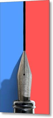 Drawing The Line Metal Print by Allan Swart