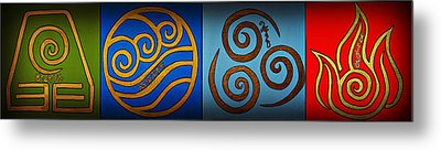 4 Elements In Cylantyca Metal Print