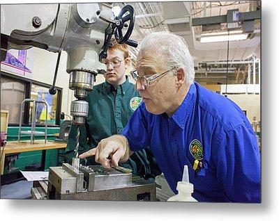 Engineering Academy Workshop Lesson Metal Print