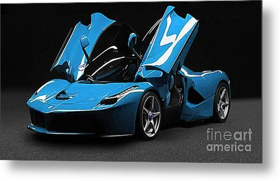Ferrari Laferrari Metal Print by Marvin Blaine
