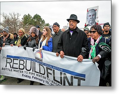Flint Drinking Water Protest Metal Print by Jim West