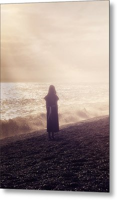 Girl On Beach Metal Print by Joana Kruse