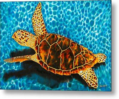 Green Sea Turtle Metal Print by Daniel Jean-Baptiste